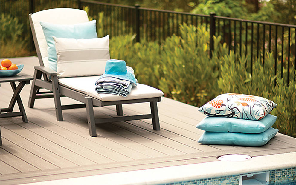 transcend-decking-gravel-path-hgtv-pool-chairs-pillows-2 TREX composite