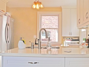After: The open kitchen, bright, modern and beautiful