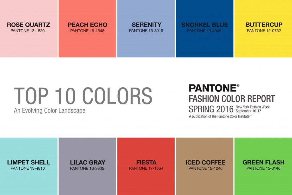 Pantone Fashion Colours 2016
