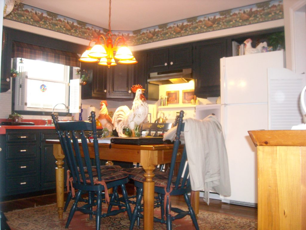 The old kitchen. WARNING: staring at this photo for too long, may cause extreme nausia