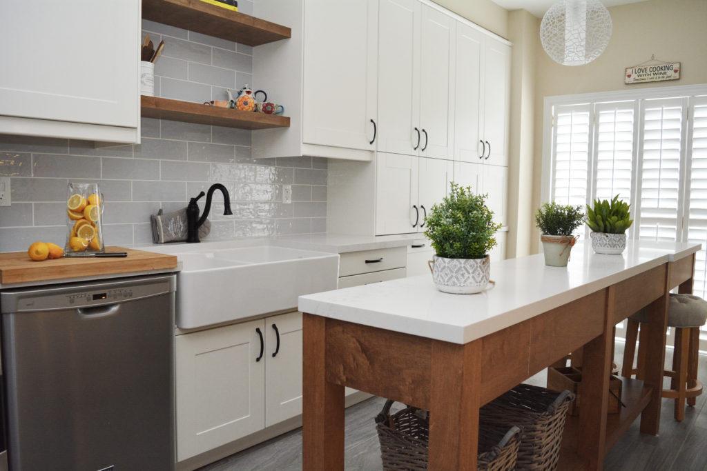 after, kitchen, interior design, renovation, french, bistro
