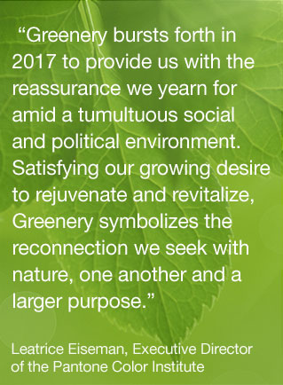 pantone-color-of-the-year-lee-eiseman-quote - PANTONE - green - greenery