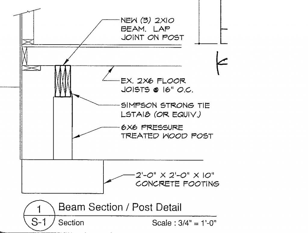 post-beam-footing