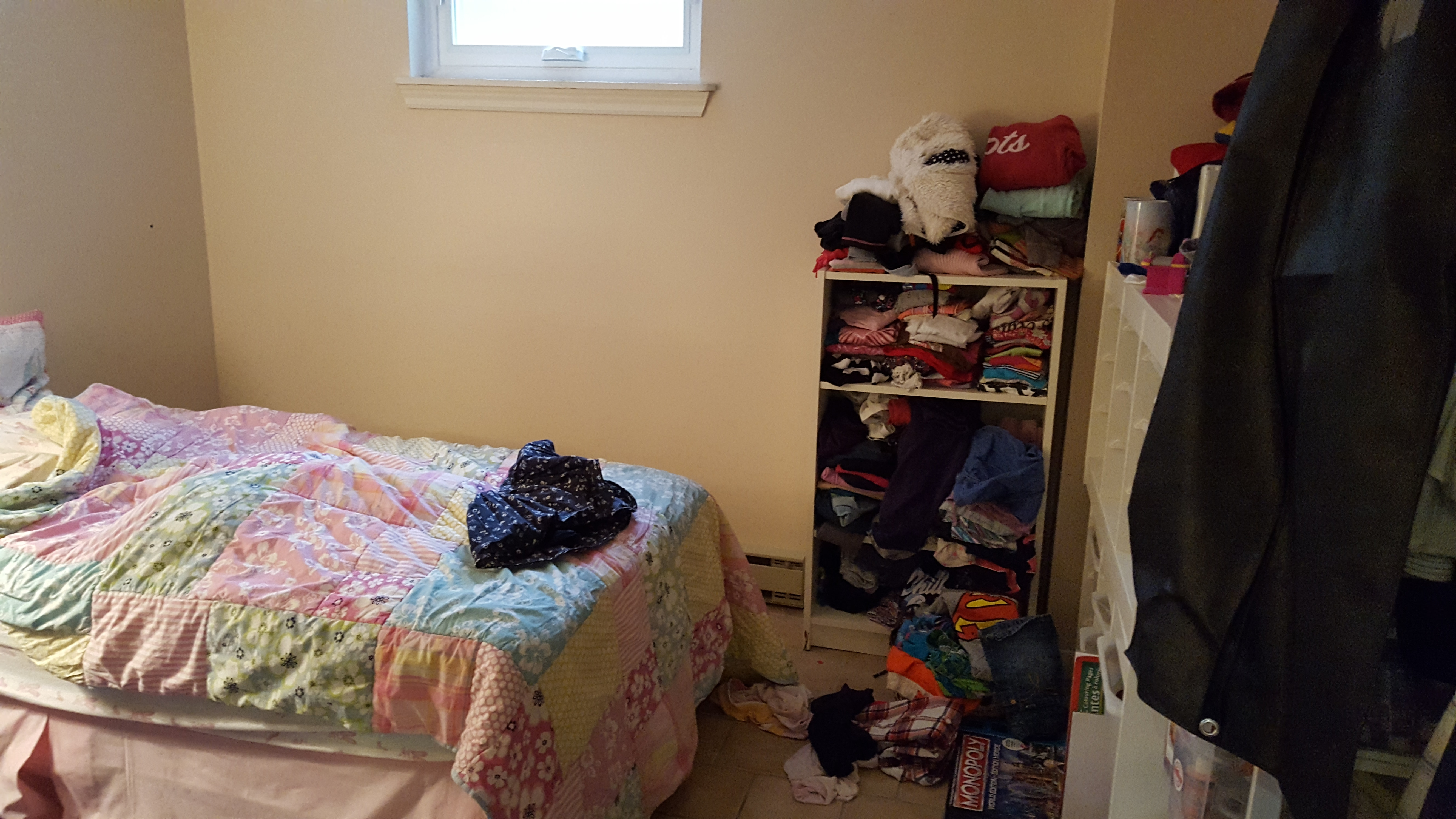 kids chaos. the bedroom