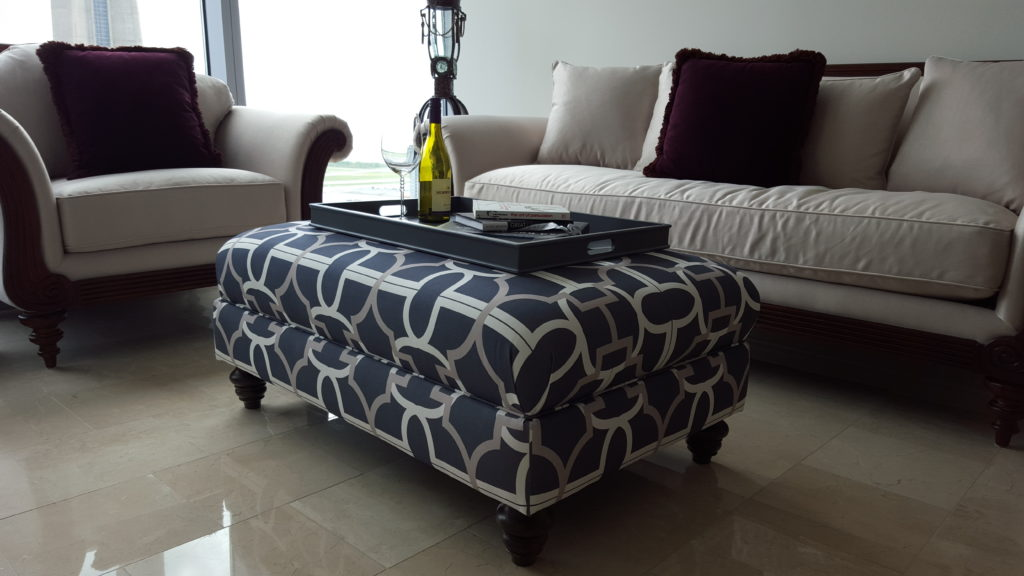 sofa and ottoman reupholstery